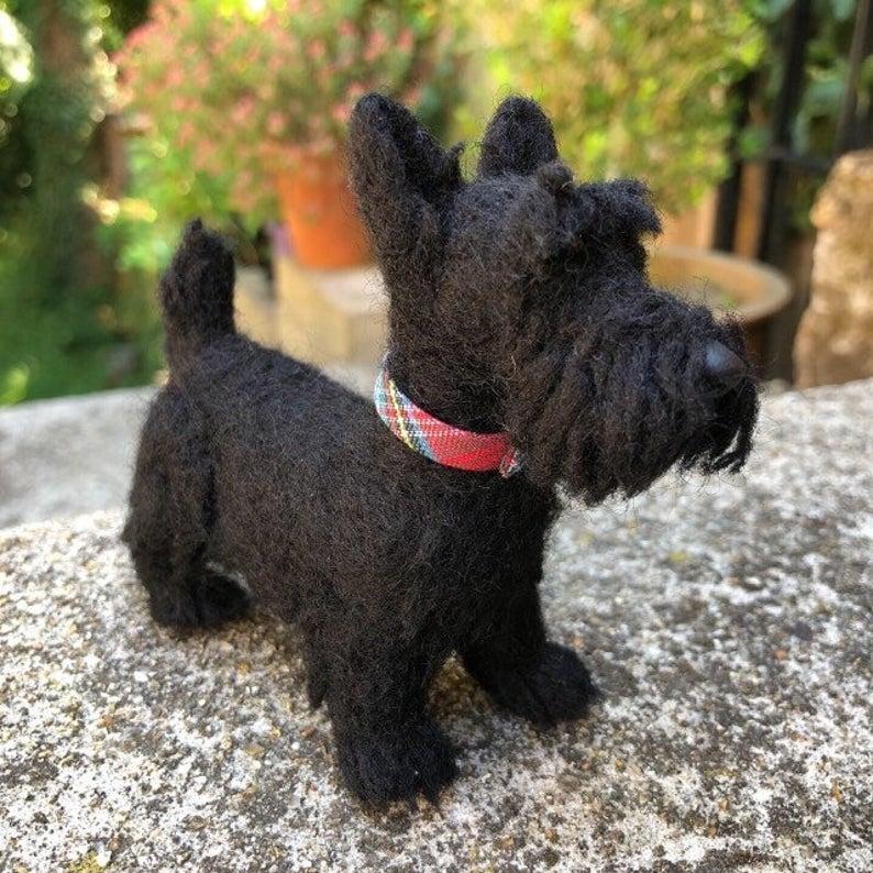 Needle felt Dog Sculpture by Amy Hearn Designs